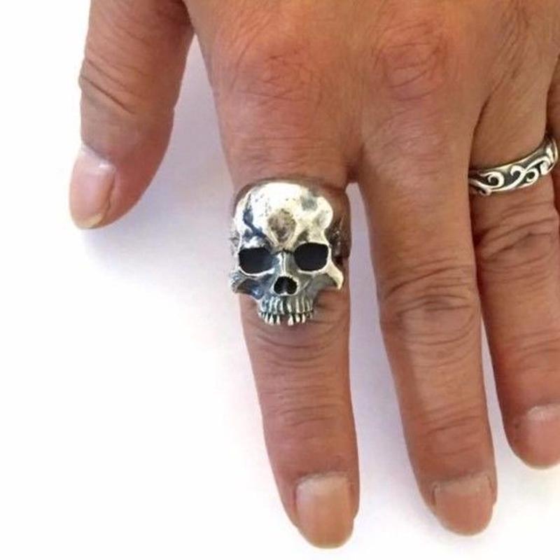 【即納可能サイズ#21号】 Human Skull Ring02