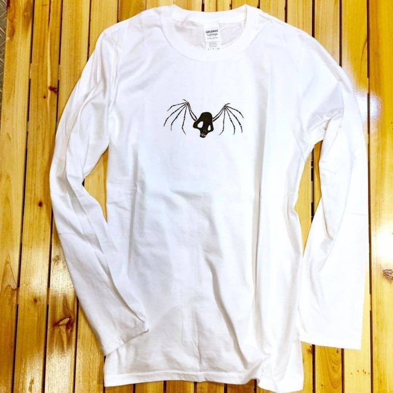 『蛇骨堂オリジナル』 ロングスリーブTシャツ (輪舞ドクロ)