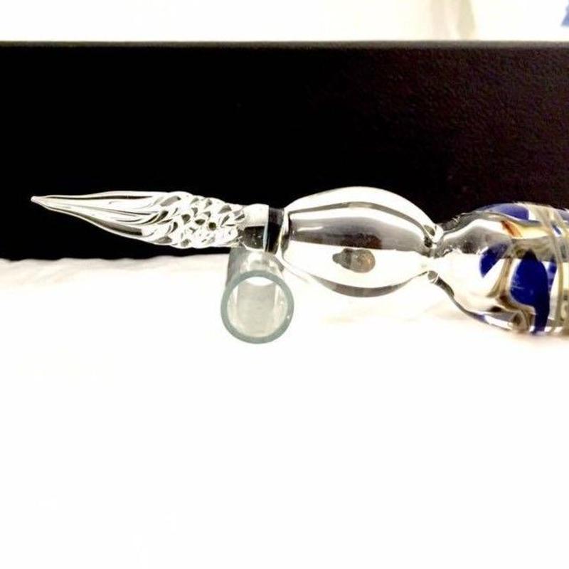【即納可能!!】       ガラスペンとペン置きセット