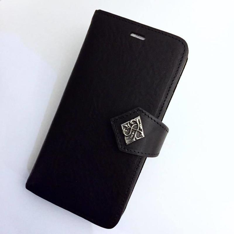 本革イタリアンレザーiPhoneX専用ブックケース