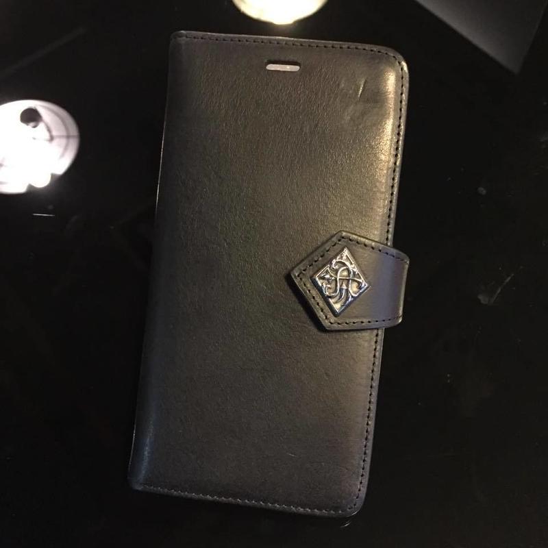本革iPhone8Plus・7Plus兼用ブックケース