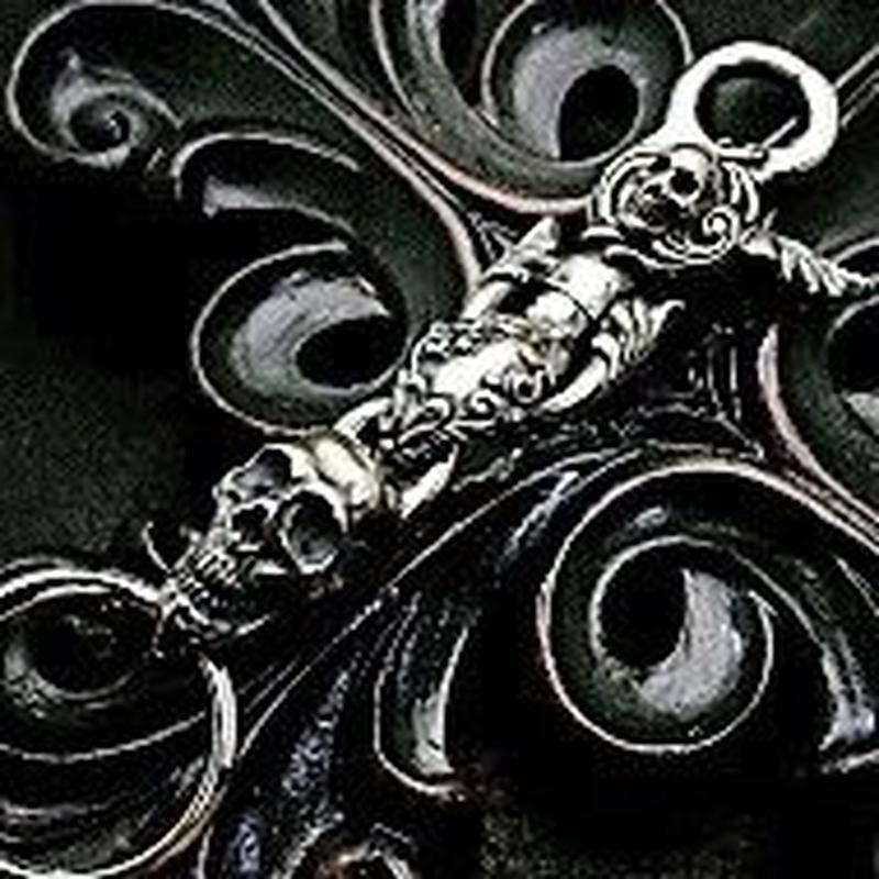 Skull Clip With Skull Key Chain-SV