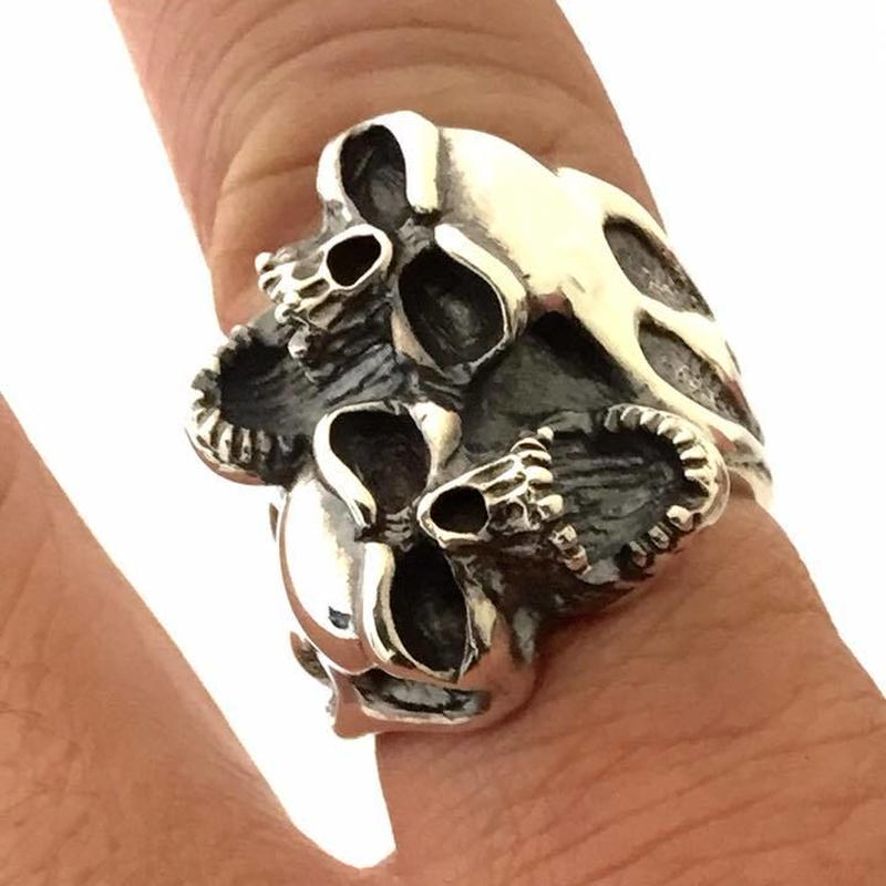 Two Crying Skull Ring