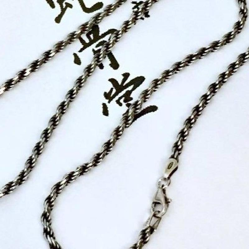 《蛇骨堂セレクト》50cmいぶし カットフレンチロープチェーン(2.8mm)