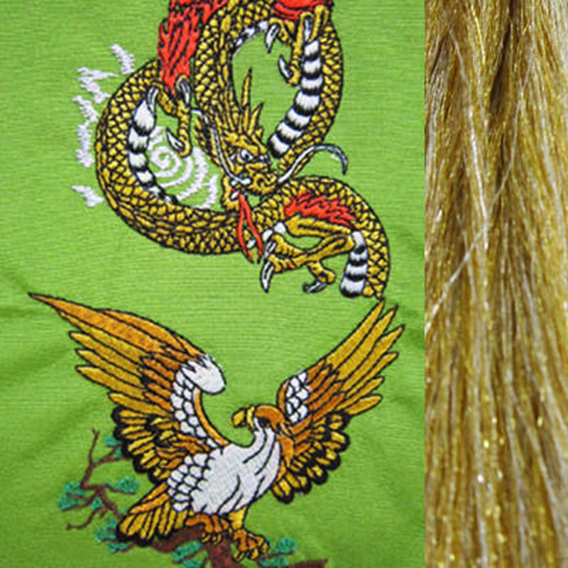 鷹と龍・金×銀房・長さ105cm