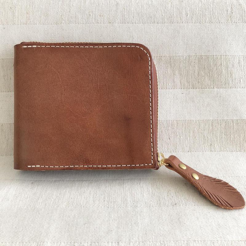コンパクト財布【GLANCE】ロロマレザー