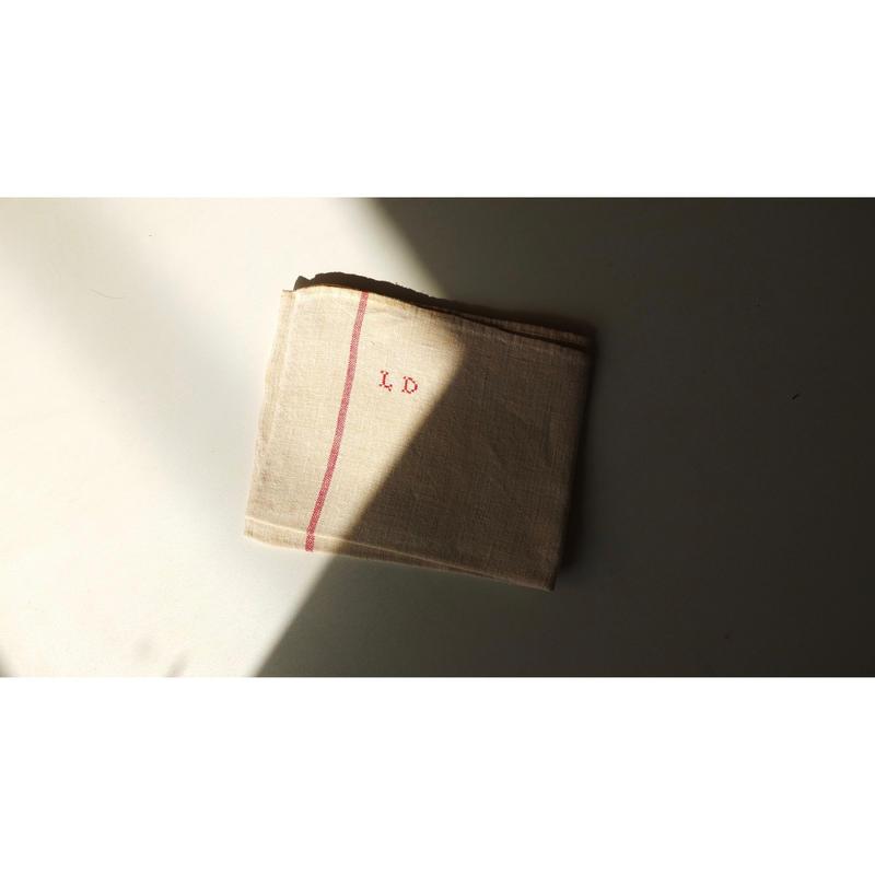 "French linen cloth ( Monogram""LD"")"