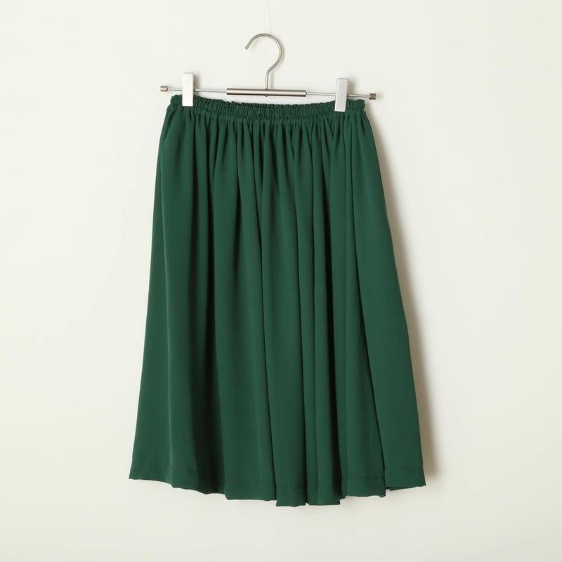 ギャザースカート/グリーン