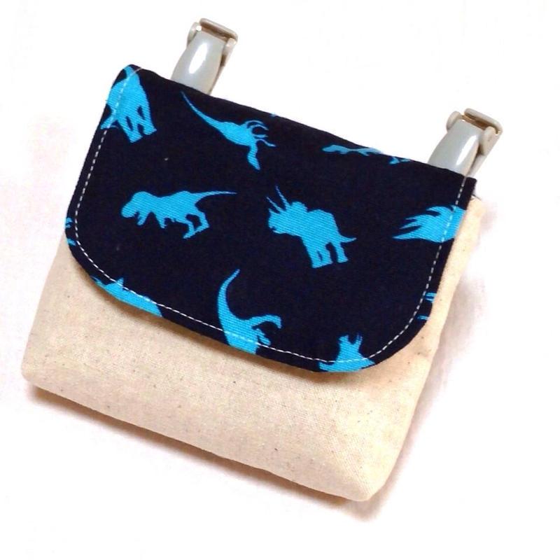 1つポケットの移動ポケット*恐竜シルエット