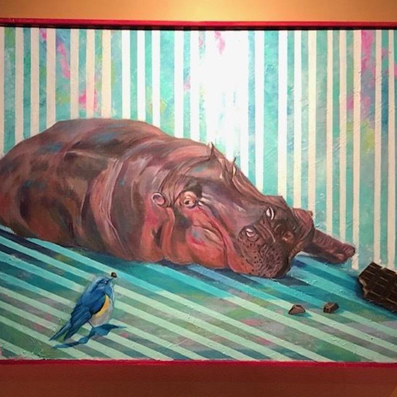"""油彩画 『ちょこれーと』 """"chocolate"""""""