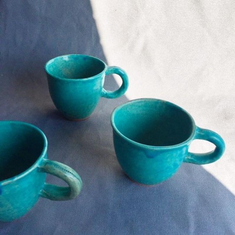 陶器 ブルーフリーマグ