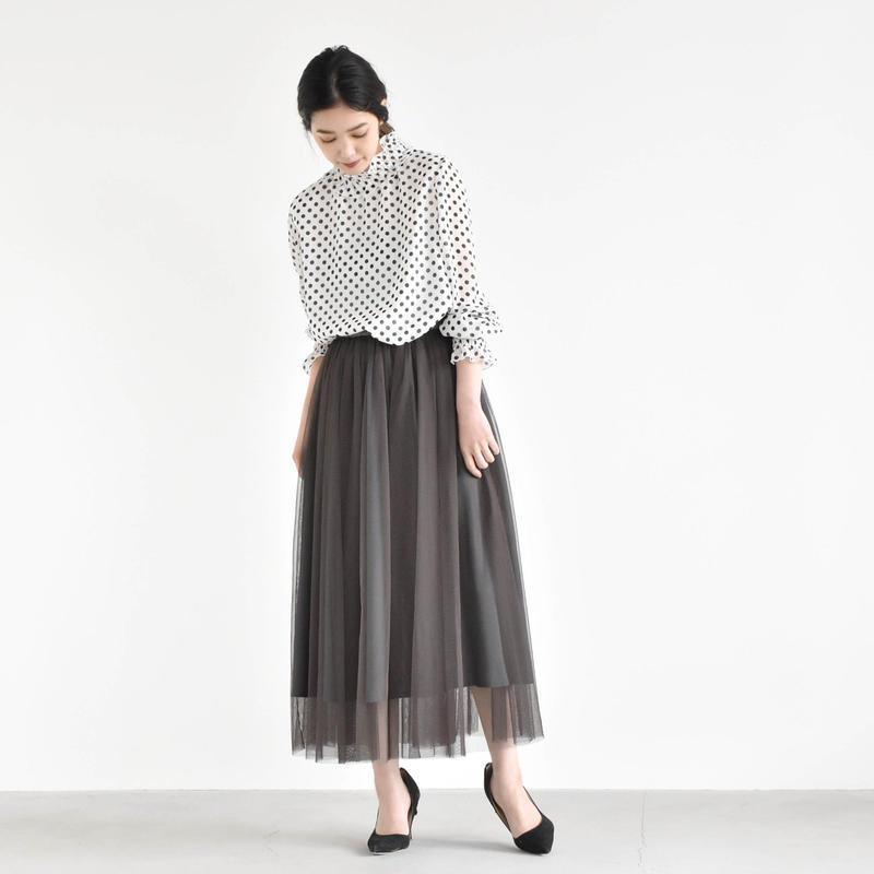 006150 / チュール重ねスカート
