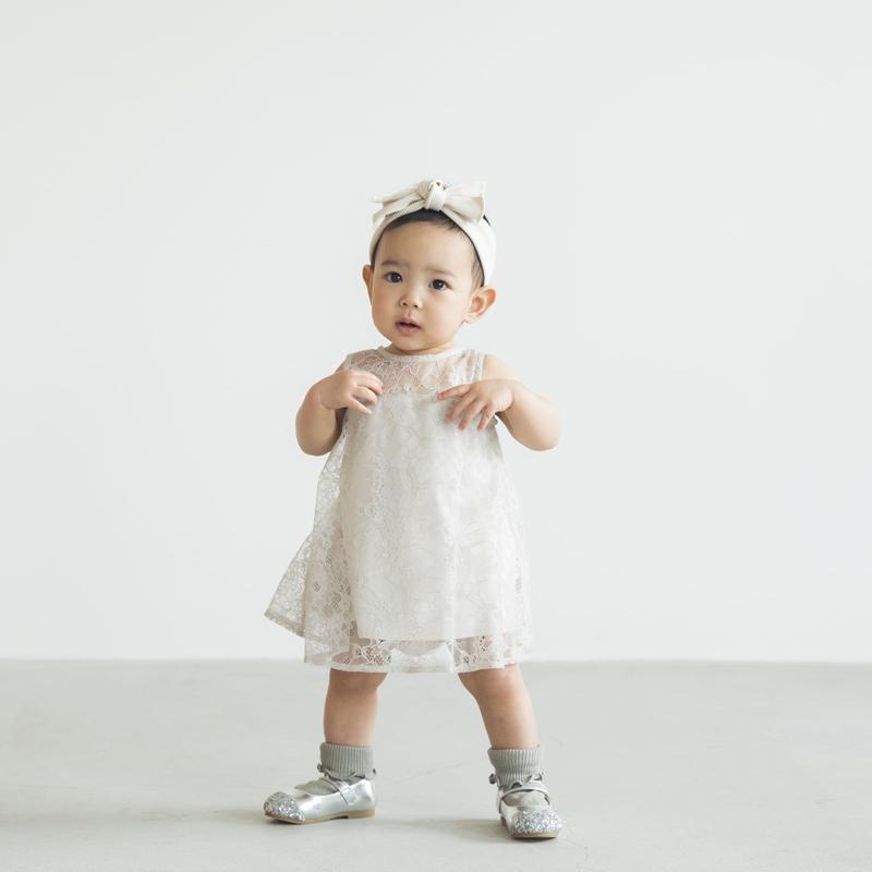【 KIDS / Lil kaene 】700001(S) 700002(M.L) /  総レースAラインワンピース