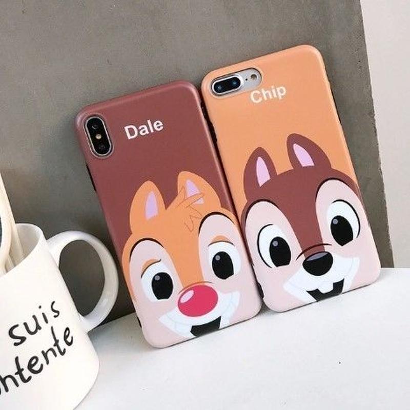輸入雑貨 FACE チップ&デール ディズニー スマホカバー iphone XR XsMAX 最大種類 iphone 8 7 6 6 s-plus