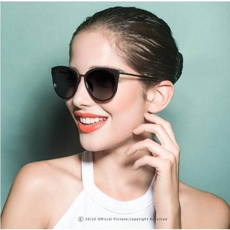 【4color】2019新作 2020 海外人気ブランド レトロスタイル UV400 偏光レディースサングラス メタルフレーム