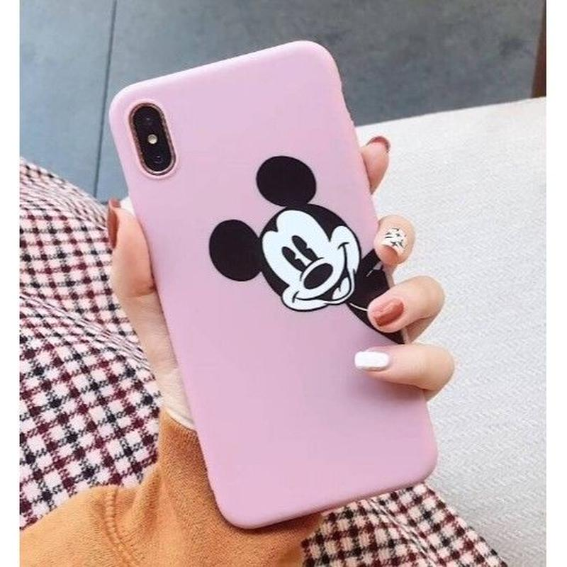 輸入雑貨 ミッキー ディズニー ケータイカバー  iphone XR XsMAX 最大種類 iphone 8 7 6 6 s-plus クラブミッキーピンク