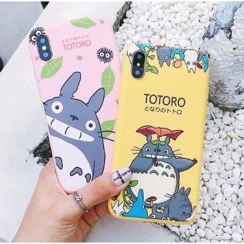 輸入雑貨 トトロ ケータイケース totoro ケータイカバー  iphone XR ケース 最大種類 iphone 8 7 6 6 s-plus トトロリーフアンブレラ