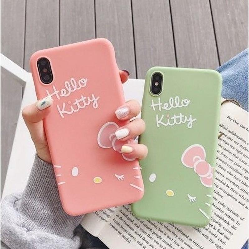 輸入雑貨 ウインク キティー Hello Kittyスマホケース  iphone XR XsMAX 最大種類 iphone 8 7 6 6 s  ハローキティー