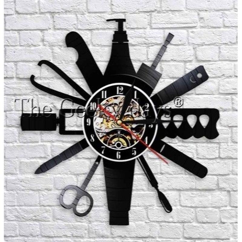輸入雑貨 ネイリスト シリーズ ネイル 壁アート ヴィンテージ 30cm レコード盤 壁掛け時計 人気  インテリア ディスプレイ 10種類展開 6