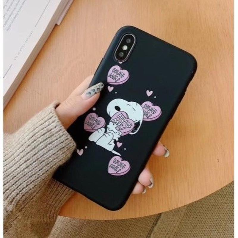 輸入雑貨 スヌーピー ケータイケース snoopy ケータイカバー  iphone XR XsMAX 最大種類 iphone 8 7 6 6 s-plus HUG ME 1