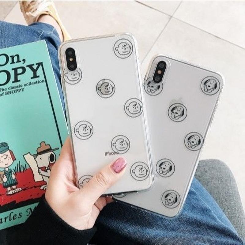 輸入雑貨 スヌーピー snoopy ケータイカバー  iphone XR XsMAX 最大種類 iphone 8 7 6 6 s-plus クリアサークル