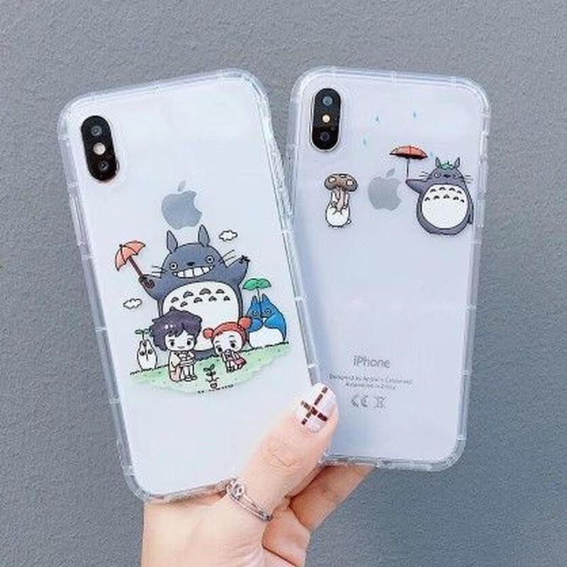 輸入雑貨 トトロ ケータイケース totoro ケータイカバー  iphone XR ケース 最大種類 iphone 8 7 6 6 s-plus トトロアニメキャラ