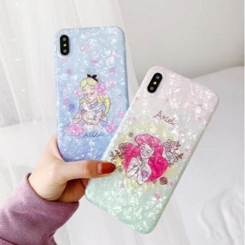 輸入雑貨 ディズニー プリンセス シェル iphone XR XsMAX 最大種類 iphone 8 7 6 6 s-plus princesses