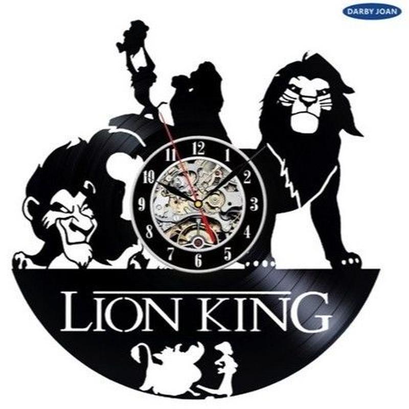 輸入雑貨 ライオンキング 30cm レコード盤 壁掛け時計 アニメ 映画 人気  インテリア ディスプレイ 4種類展開 1