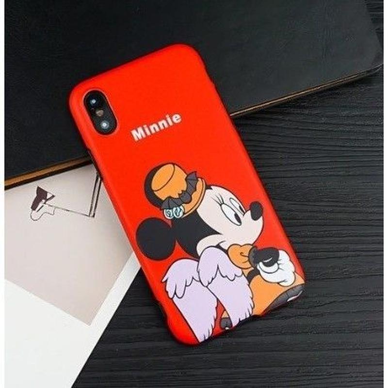 輸入雑貨 ディズニー 仲間たち  ケータイカバー  iphone X 最大種類 iphone 8 7 6 6 s-plus パーティー ミニー