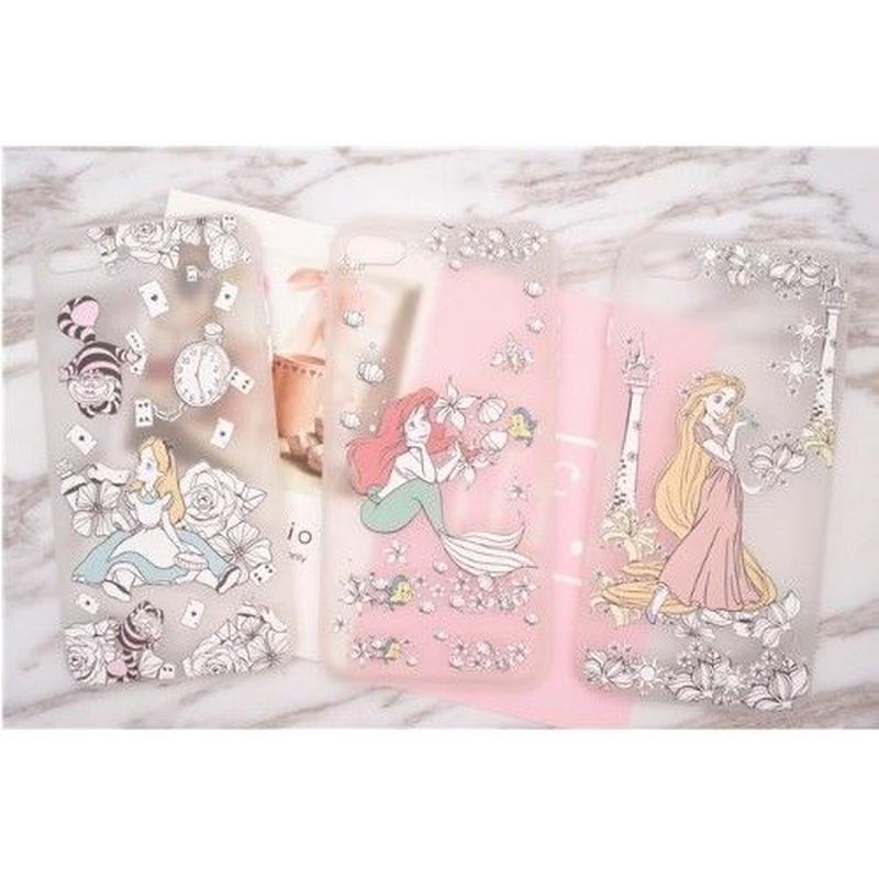 輸入雑貨 ディズニー プリンセス  ケータイカバー  iphone X 最大種類 iphone 8 7 6 6 s-plus Three princesses