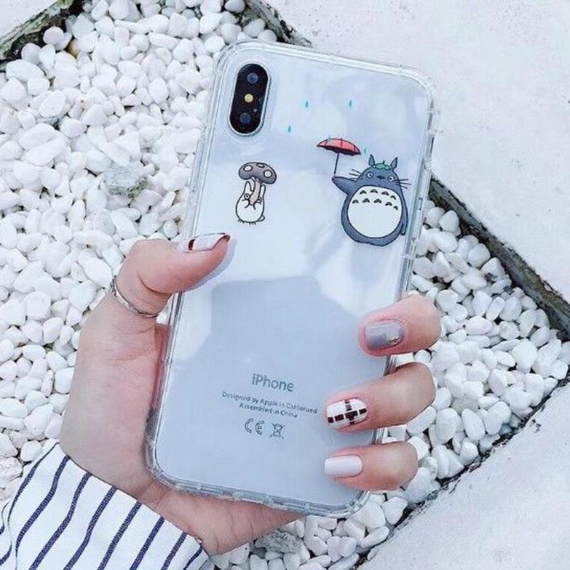 輸入雑貨 トトロ ケータイケース totoro ケータイカバー  iphone XR ケース 最大種類 iphone 8 7 6 6 s-plus トトロアニメキャラ 2