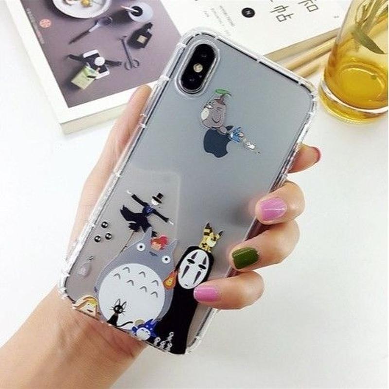 輸入雑貨 トトロ ケータイケース totoro ケータイカバー  iphone XR ケース 最大種類 iphone 8 7 6 6 s-plus トトロ仲間たち 1