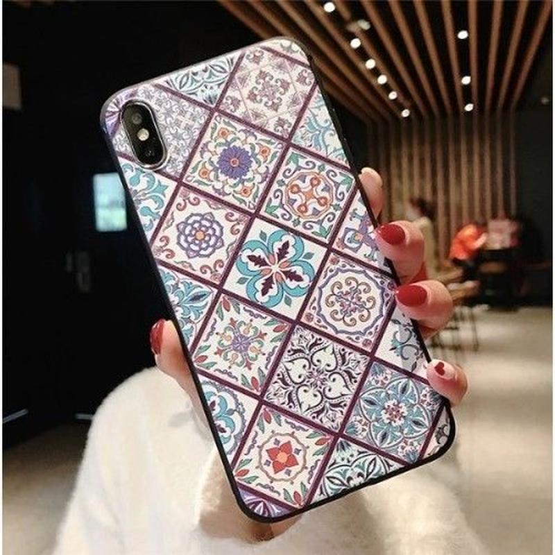輸入雑貨 レトロトーテム ケータイカバー  iphone XR XsMAX 最大種類 iphone 8 7 6 5 s-plus レトロ2