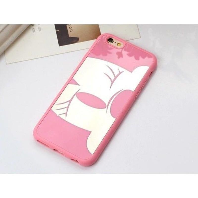 輸入雑貨 ミッキー ミニー ディズニー ケータイカバー  iphone X 最大種類 iphone 8 7 6 5 SE 6 s-plus カップル ピンクミニー