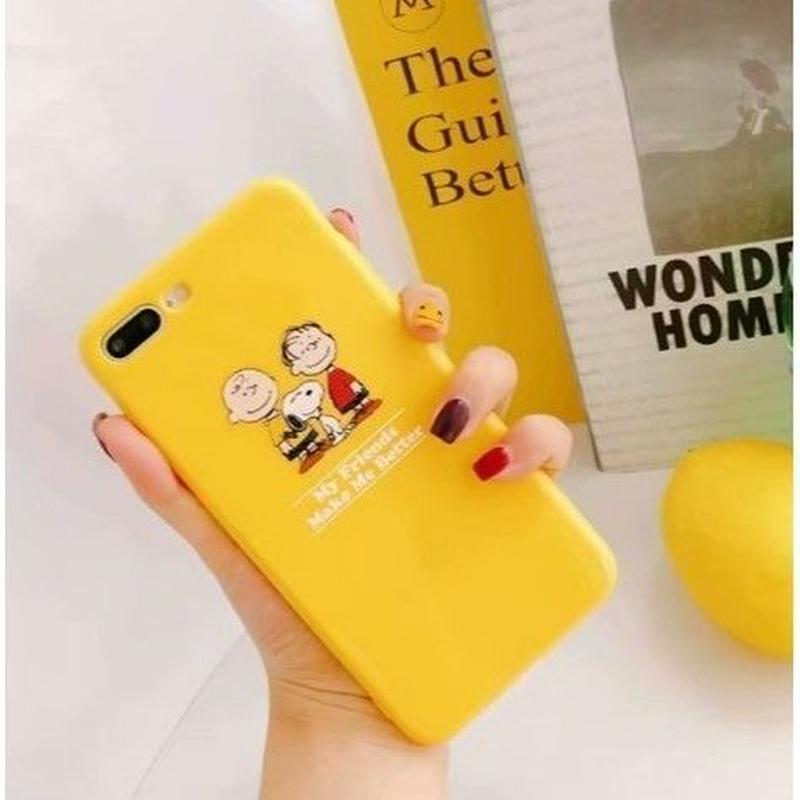 輸入雑貨 スヌーピー ケータイケース snoopy ケータイカバー  iphone X Xs 最大種類 iphone 8 7 6 6 s-plus とりお イエロー