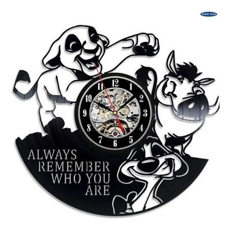輸入雑貨 ライオンキング シンバ ディズニー 30cm レコード盤 壁掛け時計 アニメ 映画 人気  インテリア ディスプレイ