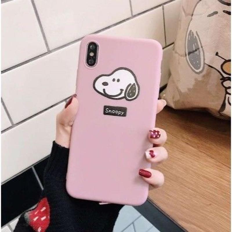 輸入雑貨 スヌーピー ケータイケース snoopy ケータイカバー  iphone XR ケース 最大種類 iphone 8 7 6 6 s-plus スヌーピー ピンク