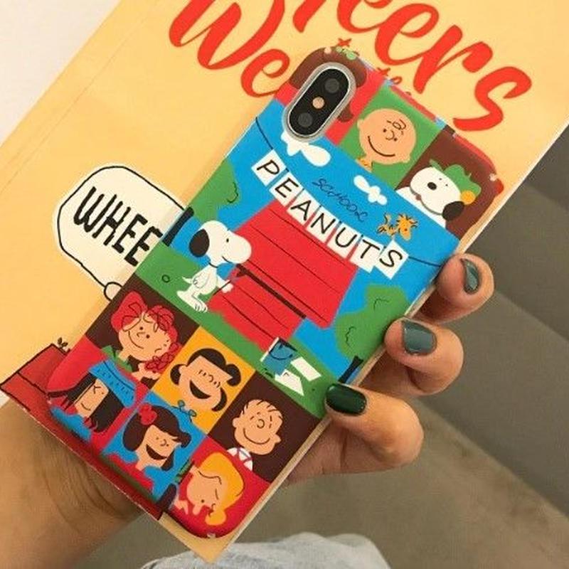 輸入雑貨 スヌーピー ケータイケース Snoopy ケータイカバー  iphone Xs ケース 最大種類 iphone 8 7 6 6 s-plus 1PEANUTS