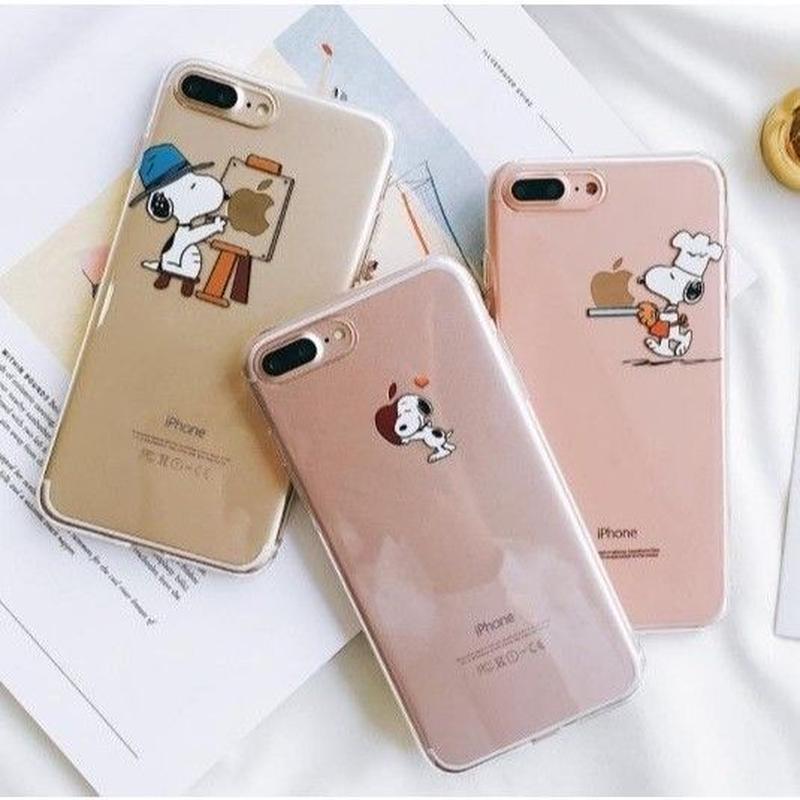輸入雑貨 スヌーピー クリア 2 Snoopy ケータイカバー  iphone XR XsMAX ケース 最大種類 iphone 8 7 6 5 5s SE-plus