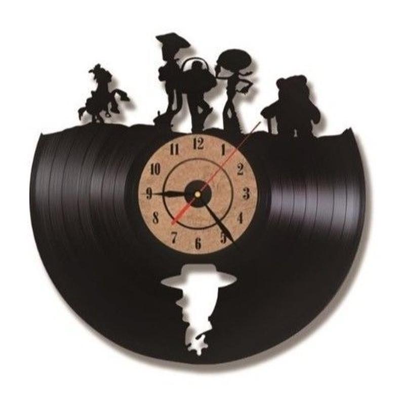 輸入雑貨 トイストーリー 30cm レコード盤 壁掛け時計 アニメ 映画 人気  インテリア ディスプレイ 2種類展開 2