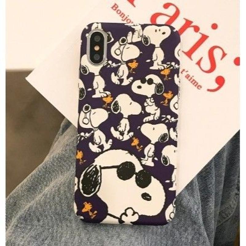 輸入雑貨 スヌーピー ケータイケース Snoopy ケータイカバー  iphone Xs ケース 最大種類 iphone 8 7 6 6 s-plus ダークスヌーピー