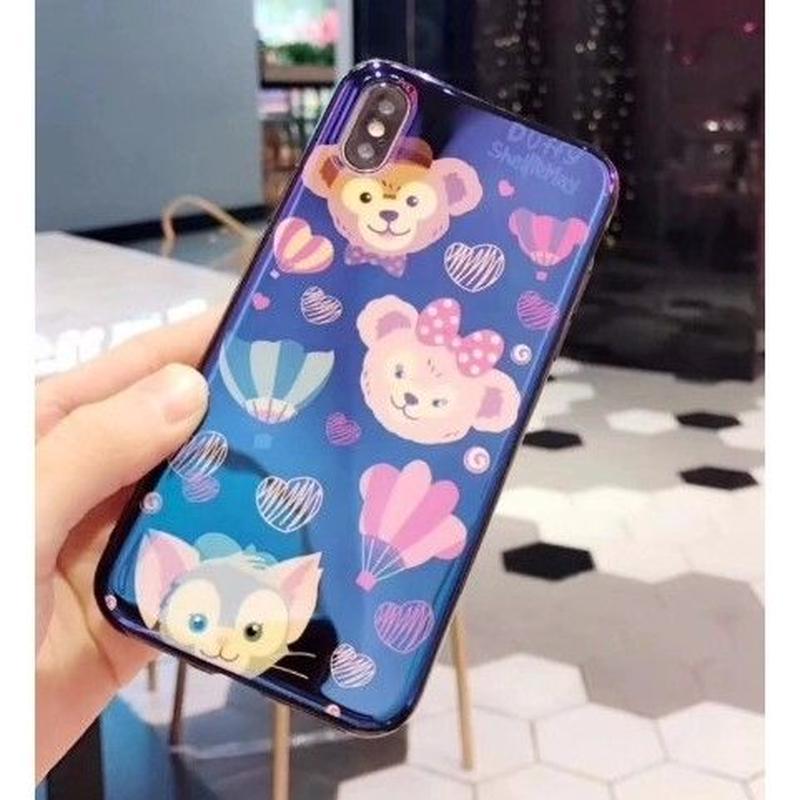 輸入雑貨 ダッフィー 仲間たち ディズニー ケータイカバー  iphone XR XsMAX 最大種類 iphone 8 7 6 6 s  ダッフィー 仲間たち1