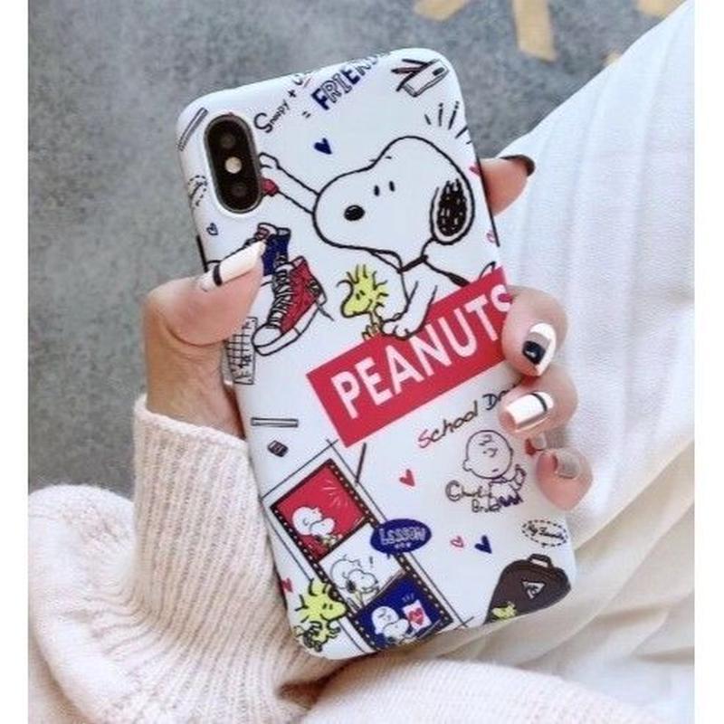 輸入雑貨 スヌーピー ケータイケース snoopy ケータイカバー  iphone XR XsMAX 最大種類 iphone 8 7 6 6 s-plus ハッピーラグジュアリーホワイト