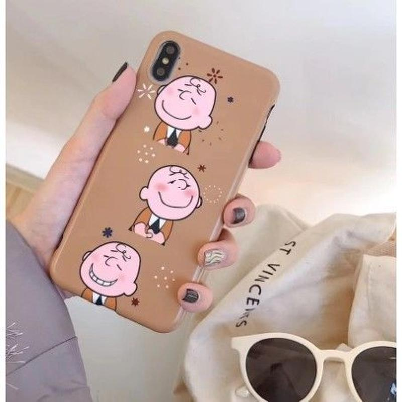 輸入雑貨 チャーリーブラウン snoopy iphone XR XsMAX  ケース 最大種類 8 7 6 6 s-plus チャーリーBR