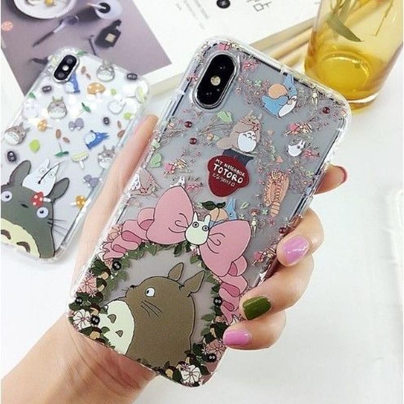 輸入雑貨 トトロ ケータイケース totoro ケータイカバー  iphone XR ケース 最大種類 iphone 8 7 6 6 s-plus トトロ仲間たち 2
