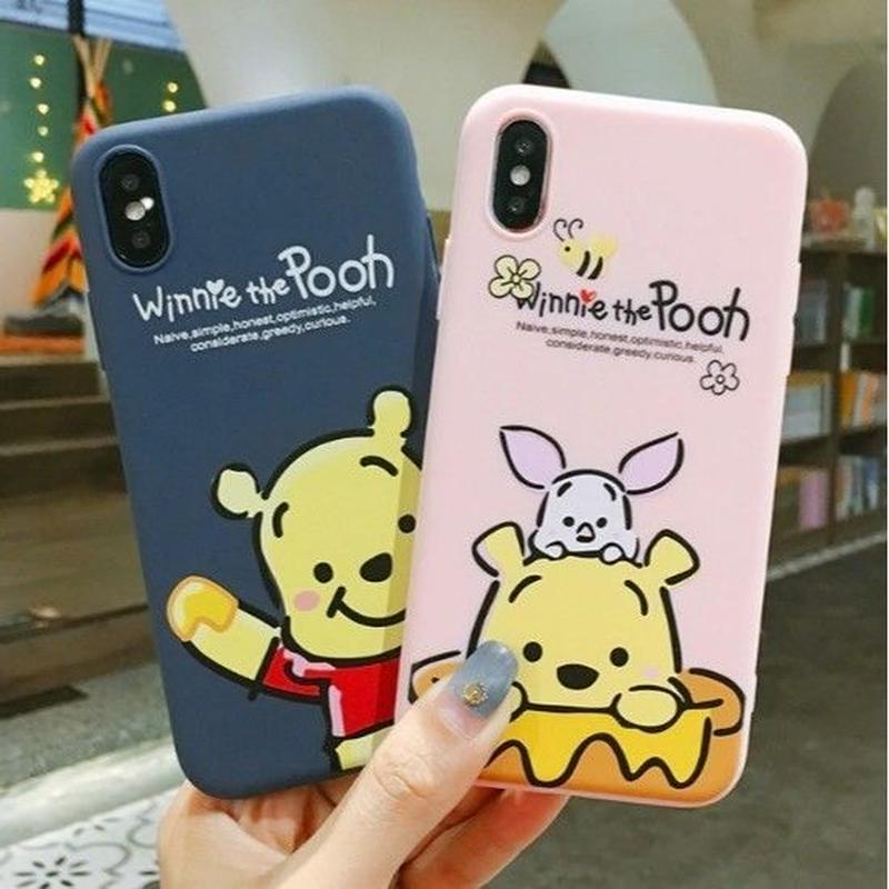 輸入雑貨 プーさん ピグレット ディズニー ケータイカバー  iphone XR XsMAX 最大種類 iphone 8 7 6 6 s-plus プーさん2