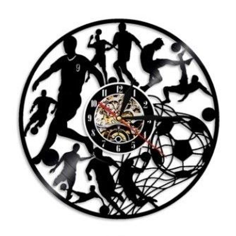 輸入雑貨 サッカー チーム 壁アート ヴィンテージ 30cm レコード盤 壁掛け時計 アニメ 映画 人気  インテリア ディスプレイ 6種類展開 3