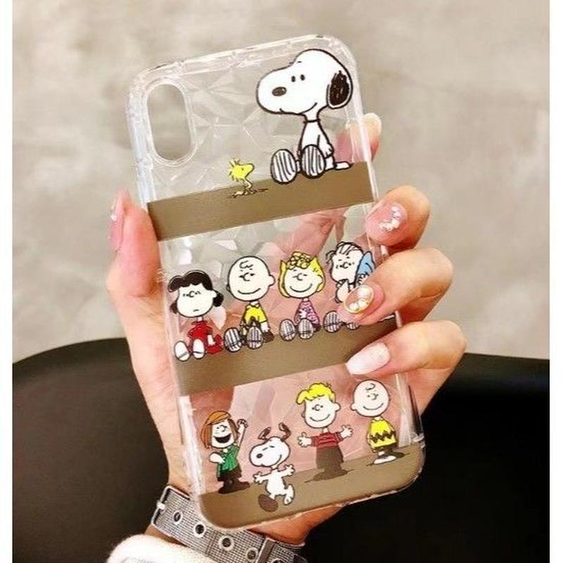 輸入雑貨 スヌーピー ケータイケース snoopy ケータイカバー  iphone X 最大種類 iphone 8 7 6 6 s-plus ダイヤモンド 2