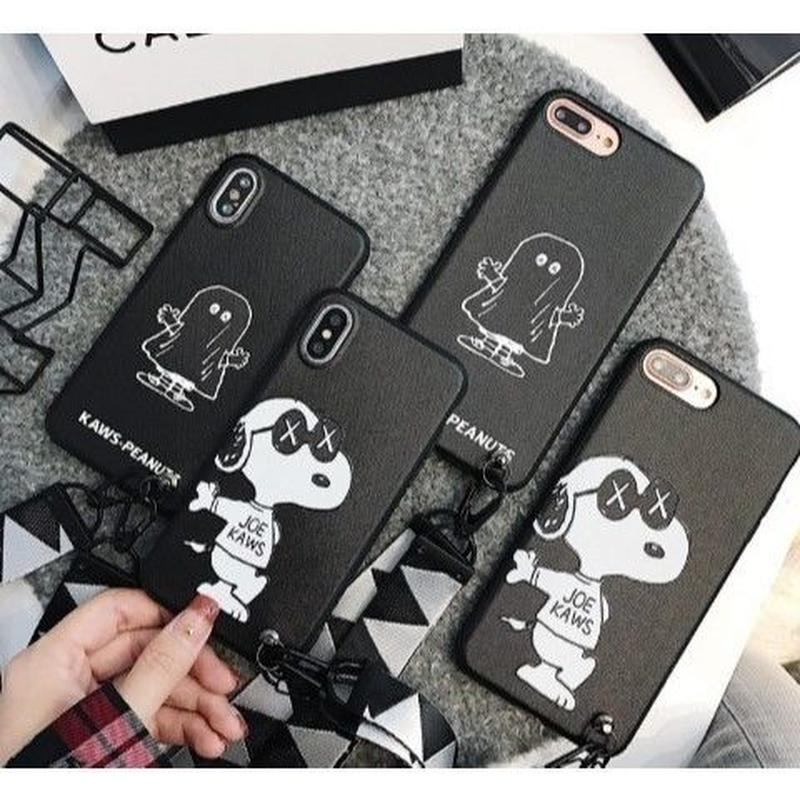 輸入雑貨 スヌーピー ケータイケース Snoopy ケータイカバー  iphone X ケース 最大種類 iphone 8 7 6 6 s-plus 63サングラス ストラップ付