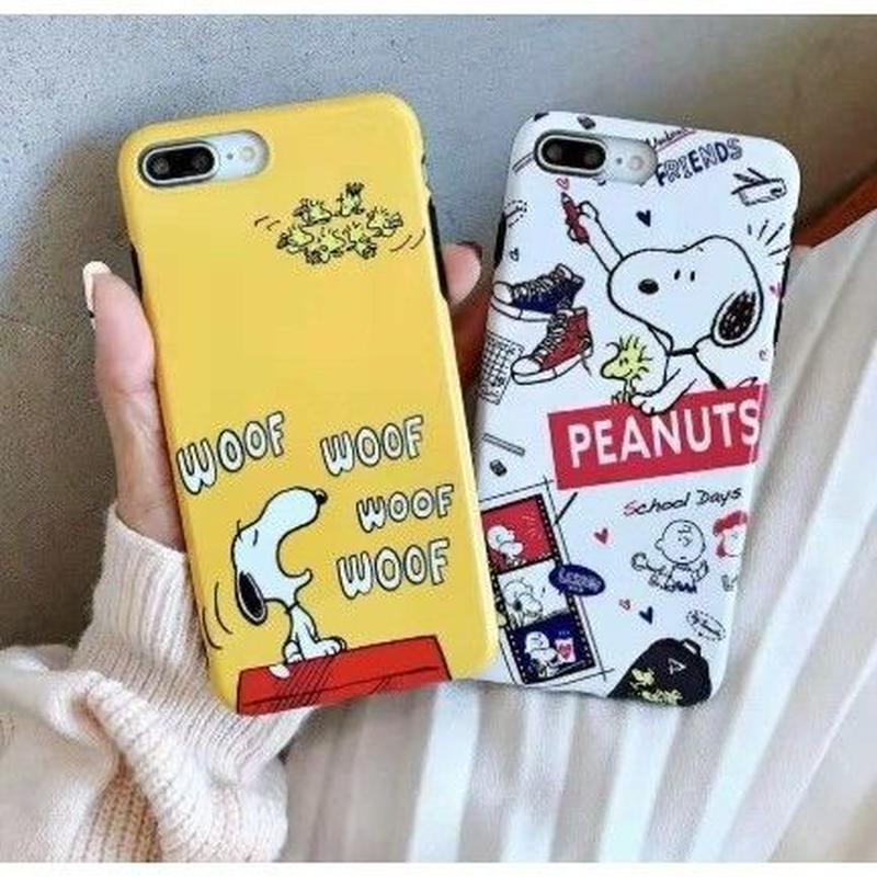 輸入雑貨 スヌーピー スマホケース Snoopy iphone XR XsMAX  ケース 最大種類 iphone 8 7 6 6 s-plus WOOF